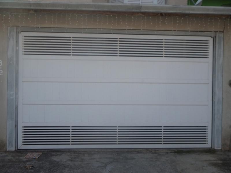 Portão Automático Branco Orçamento Bom Retiro - Portão Automático Basculante