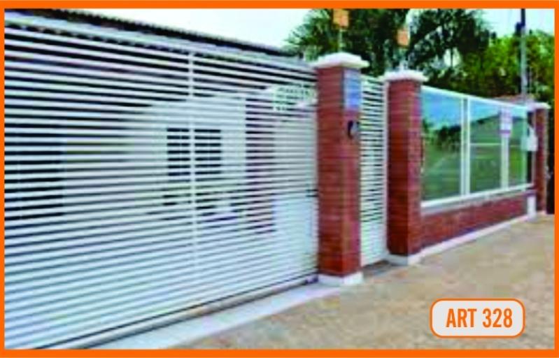 Portão de Alumínio Basculante Automático Orçamento Mauá - Portão Automático Branco
