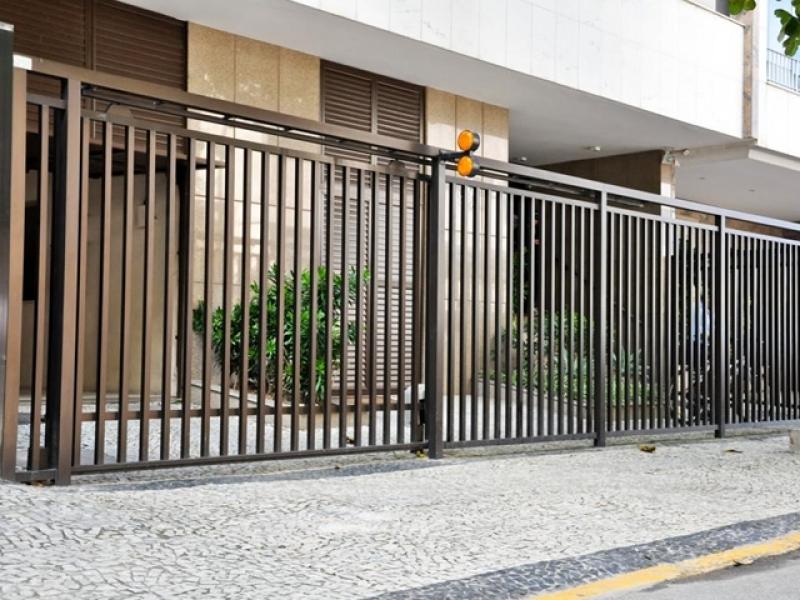 Portão de Correr Automático Orçamento Jardim Marajoara - Portão Automático Branco