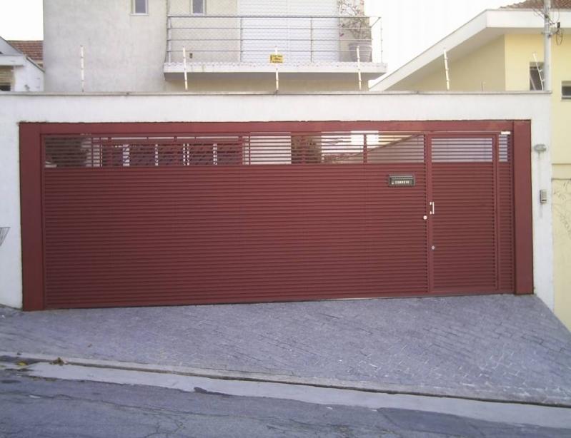 Portão de Garagem Automático Orçamento Ibirapuera - Portão de Alumínio Automático
