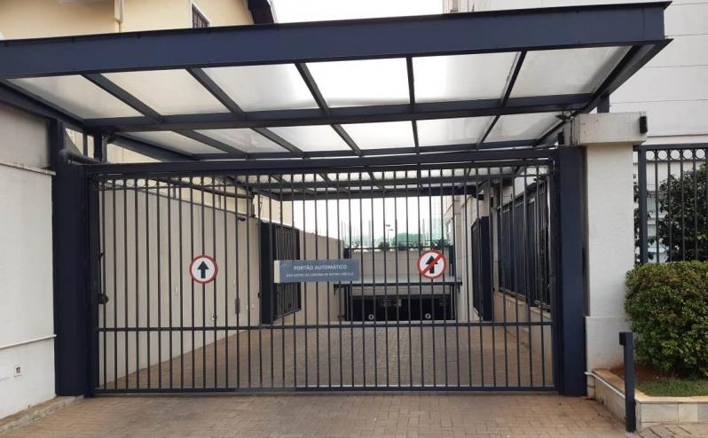 Portão de Subir Automático Santa Efigênia - Portão Automático Branco