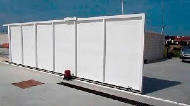 Portão Deslizante Automático Liberdade - Portão Automático Branco