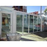 empresa de portão de alumínio branco com vidro Jardins