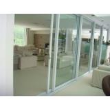 esquadrias de alumínio para portas preço m2 Vila Santa Catarina