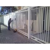 instalação de portão alumínio condomínio Jardim Marajoara
