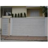 instalação de portão para condomínio branco Brooklin