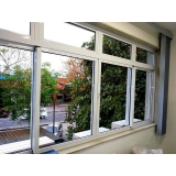 janela de alumínio com vidro Campo Belo