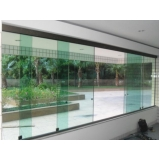 porta alumínio com vidro valores Jardim Santa Helena