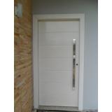 porta de alumínio branco Real Parque
