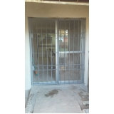 porta de alumínio com grade valores Vila Noca