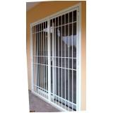 porta de alumínio com grade Santo André