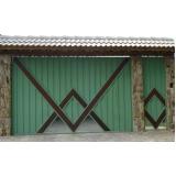 portão de aço galvanizado Taboão da Serra