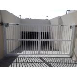 portão de alumínio branco pequeno orçamento Jardim Panorama D'Oeste