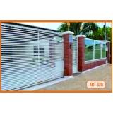 portão de alumínio para garagem preço Higienópolis