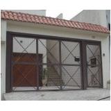 portão de ferro para garagem Chácara Kablin