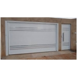 portão de garagem alumínio branco orçamento Mauá