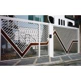 portão de garagem galvanizado Jardim Clímax