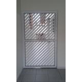 portas de alumínio com grade Cajamar