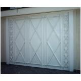 portões de alumínio branco pequeno Vila Alexandria