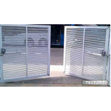 portões para condomínio branco Jurubatuba