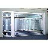 valor de portão branco de alumínio Jardim Clímax
