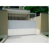 valor de portão de alumínio branco pequeno Santa Efigênia