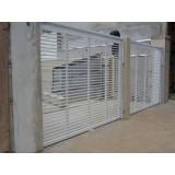 valor de portão de garagem alumínio branco Vila Moraes